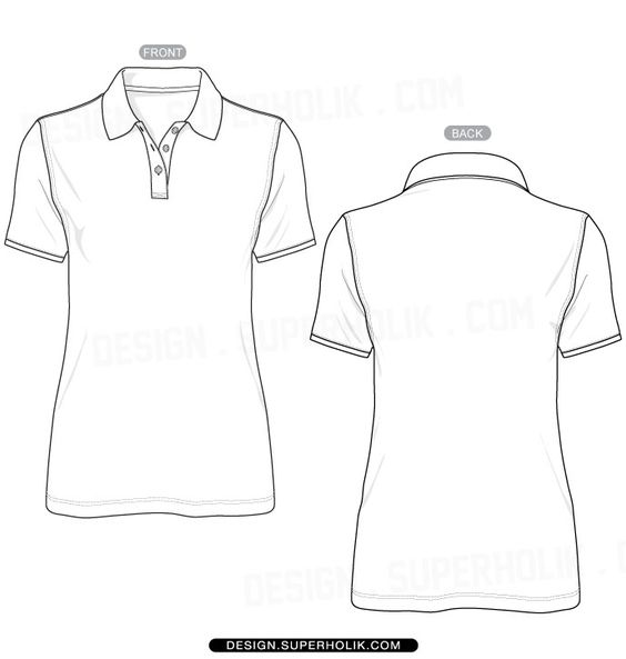 Fashion design templates vector illustrations and clip for Polo shirt design template
