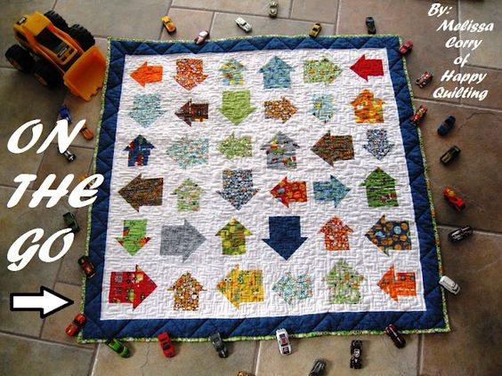 On The Go Baby Boy Quilt by Melissa Corry from Happy Quilting. Melissa is a QM 100 Blocks designer.
