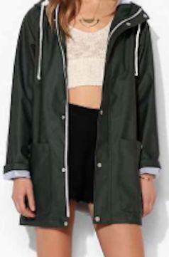 Hunter green women&39s rain jacket http://rstyle.me/n/qs3i9bna57
