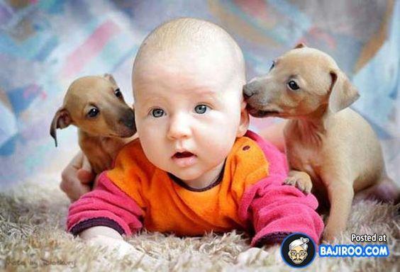 cute baby and dog - Google'da Ara