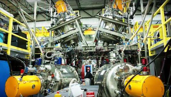 Tri Alpha Energy.cyclotron inverse. © Science Magazine