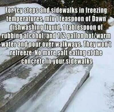 For frozen sidewalks and steps.