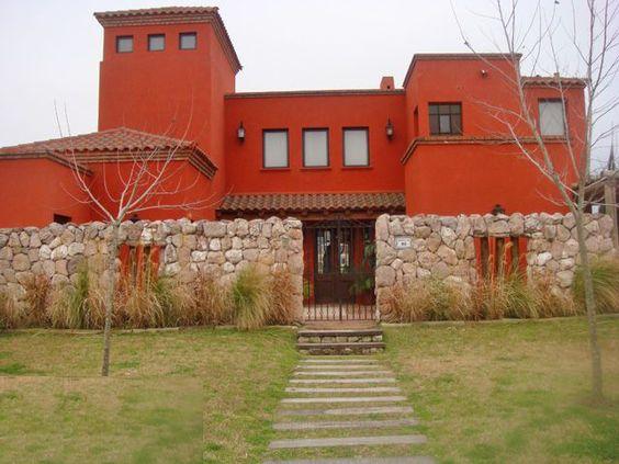 Decoracion rustica de casas y viviendas frentes y for Decoracion de frentes de casas