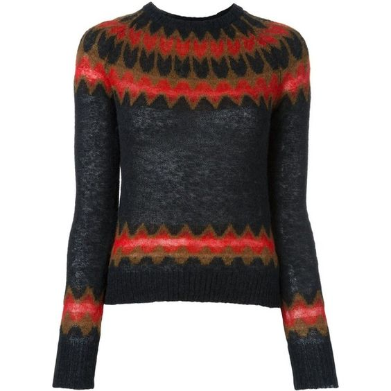 Laneus crew neck jumper (£195) ❤ liked on Polyvore featuring tops, sweaters, black, jumper top, crew top, crewneck sweaters, laneus and crew neck jumper