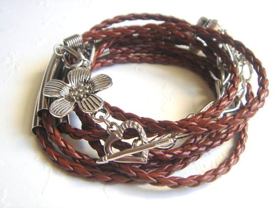 Wrap Leather BraceletWrap Leather CuffBrown Lether by accessory8, $19.00