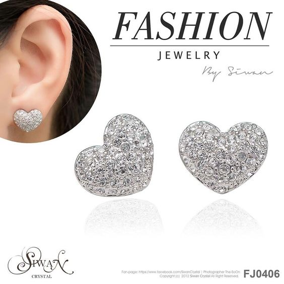 FJ0406 Heart shaped earrings