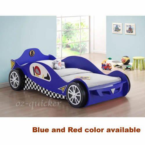 Kids Racing Car Bed Single Size 3dwheel Children Bedroom Furniture Race Bedding Home Garden Furniture Children S Kid Beds Kids Bedroom Furniture Car Bed