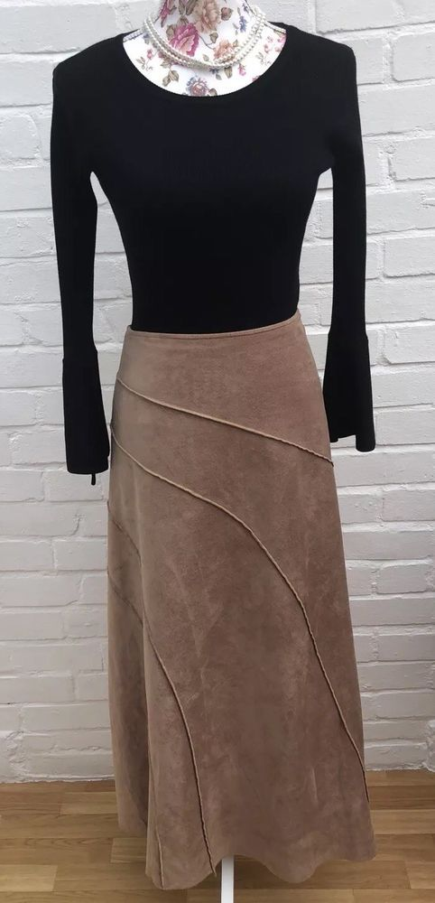 New Womens Marks /& Spencer Grey Cord Skirt Size 12
