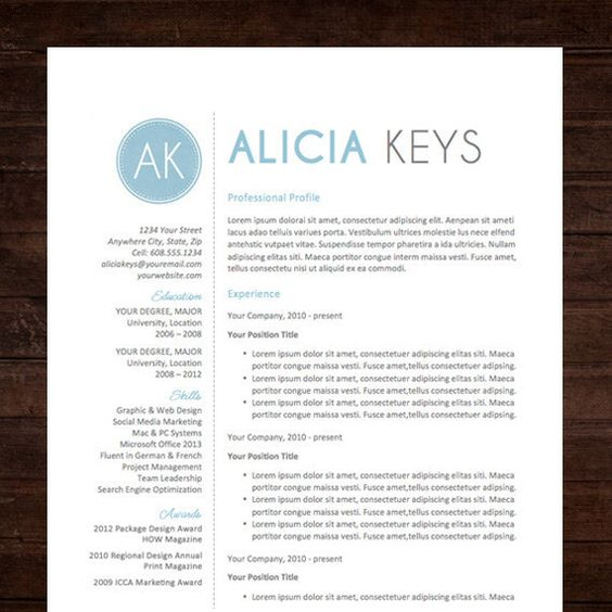 Resume Template Cover Letter, Thank You, References + Unlimited - free resume templates for mac