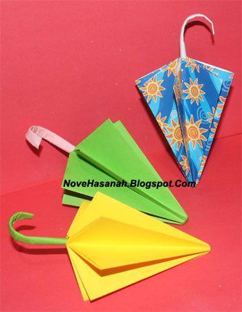 Membuat Origami Payung Mudah Langkah Melipat Kertas Anak Berbentuk Gambar Origami Payung Kertas