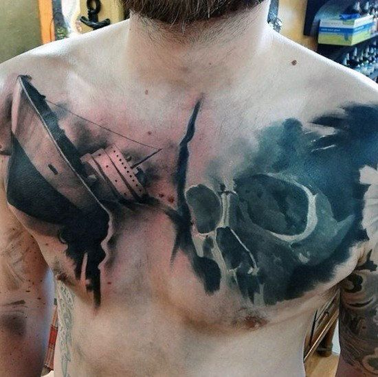 Watercolor Rose Chest Tattoo Rose Tattoos For Men Watercolor Rose Tattoos Rose Chest Tattoo