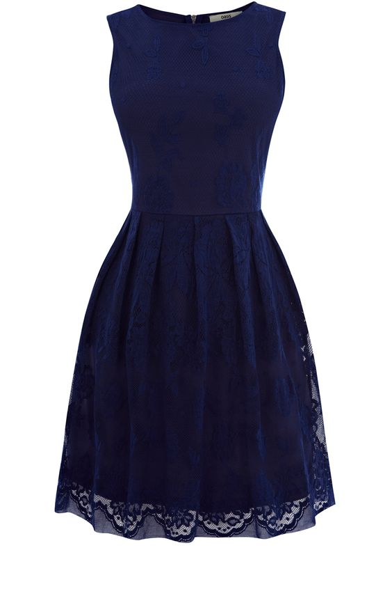 Navy lace dress