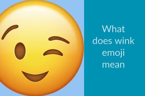 Wink Face Emoji - Manga