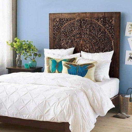 Buy Lotus Carving Wall Art Bed Headboard Carved Headboard Queen