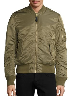 ALPHA INDUSTRIES Nylon Flight Jacket. #alphaindustries #cloth ...