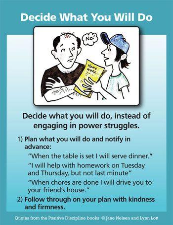 Decide What You Will Do (Avoiding a Power Struggle)
