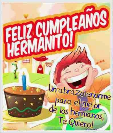 Postal Nº 2952 Feliz Cumpleaños Hermano Te Quiero Mucho