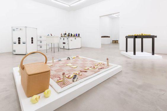 Installation view, Matthew Ronay, The Art of Chess, NextLevel Galerie, 2013, Photo: F. Kleinefenn