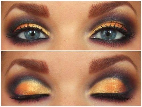 A very wearable black and orange eye