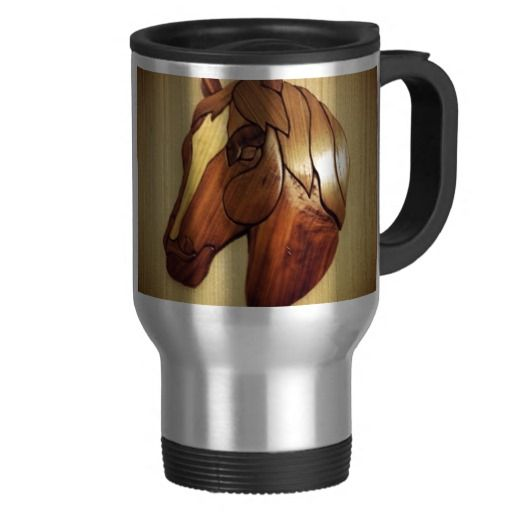 Horse Carving Coffee Mugs