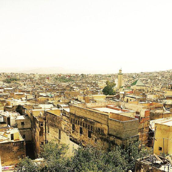 «Sea of Mystery #fes #medina #view #DarDmana #Borj #overview #medieval #town #morocco»