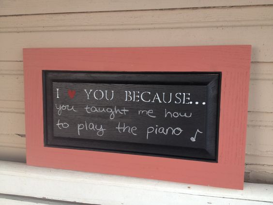 I love you chalkboard (red). $55,00, via Etsy.