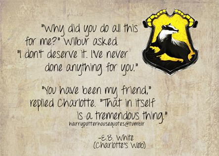 What a Hufflepuff is.