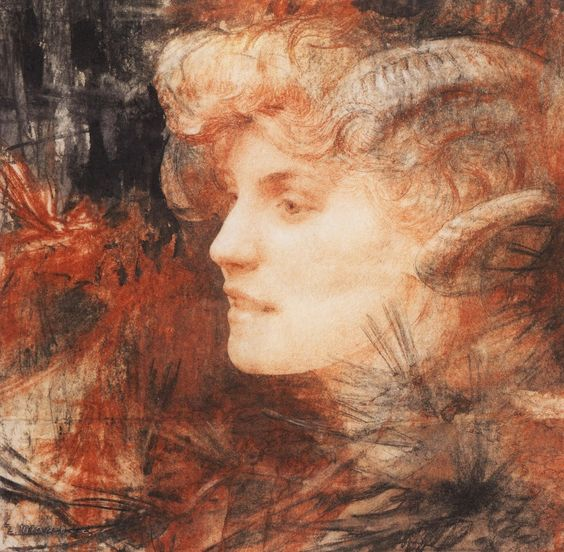 Edgar Maxence (French, 1871-1954). Faunesse, 1907