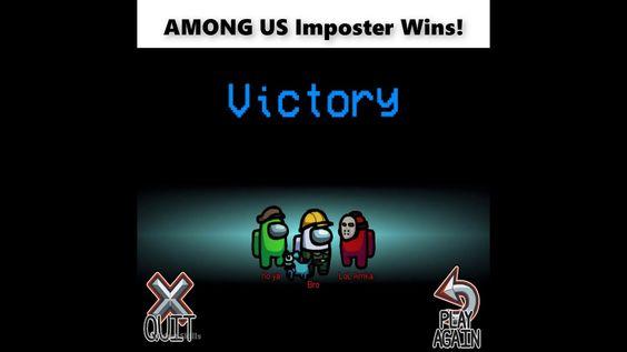 Fastest Among Us Impostor Win Ever Among Us Gameplay Youtube Gameplay Win Youtube