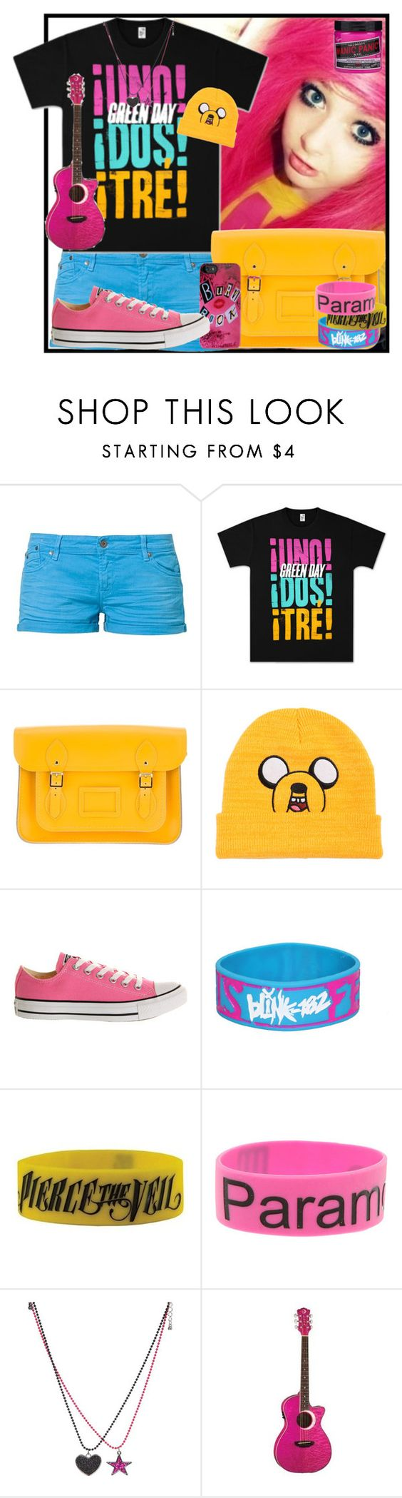 """""""Pink, Blue and Yellow!"""" by designergirl2000 ❤ liked on Polyvore featuring Roxy, The Cambridge Satchel Company, Converse and Blink"""