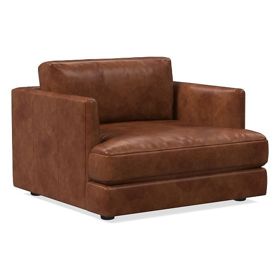 Haven Leather Chair And A Half Leather Chair Brown Leather Chairs Leather Chair Living Room One and a half chair