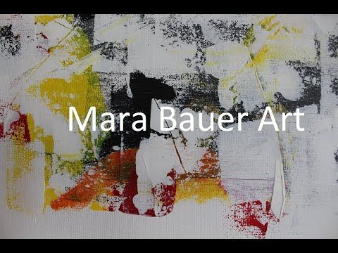 Malen Abstrakt Acryl Mit Schwamm Abstract Acrylic Painting