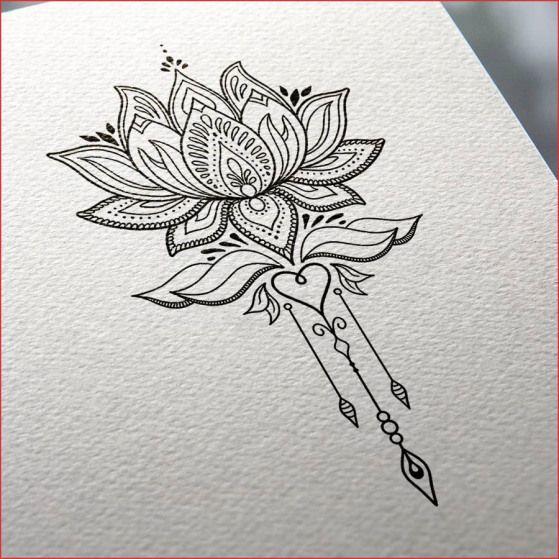 Dessin Fleur De Lotus Noir Et Blanc Stupéfiant Dessin Fleur