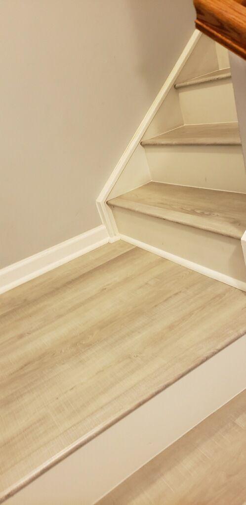 Vinyl Plank Stair Treads Landing By
