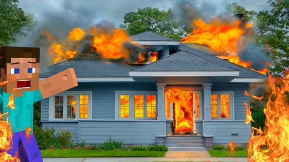 MA MAISON BRÛLE ENCORE ! | Burning House !