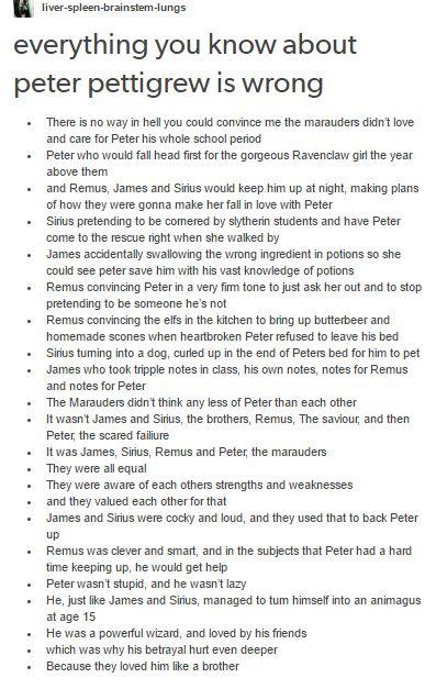 the marauders - peter pettigrew