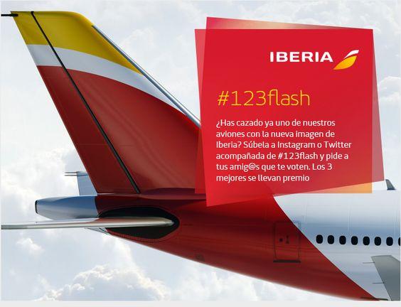 Concurso #123Flash en el que invitábamos a nuestros seguidores a cazar la #nuevaIberia y compartir las fotos con nosotros :)