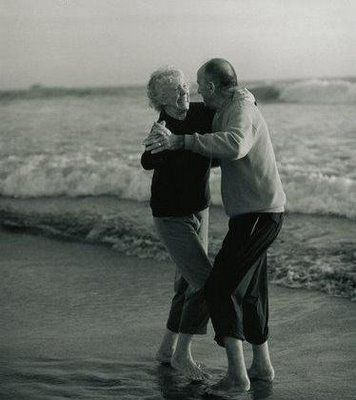 Dance with me till the end of time ...  We both grew up living near the beach and met as children.  We had our very first dance together in high school and have been together ever since (almost 50 years).