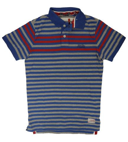 Superdry Mens Infill Stripe Polo - Cali Blue Mix – £39.95 plus Free UK P&P. Looks great with jeans and chinos!http://moyheelandtraders.com/products/superdry-mens-infill-stripe-polo-cali-blue-mix