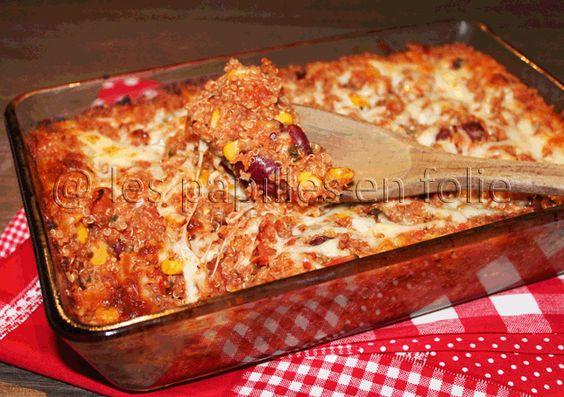 Gratin de quinoa façon enchiladas