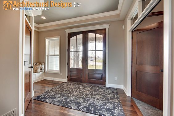 Foyer Tray Ceiling : Plan hs craftsman with amazing great room house