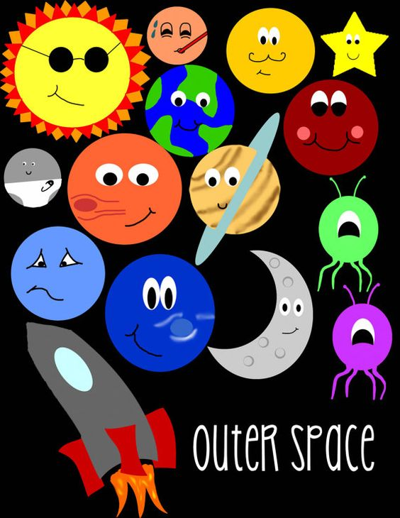 Outer Space Clip Art – Clipart Download
