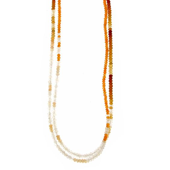 Moonstone & Hessonite Healing Stone Necklace