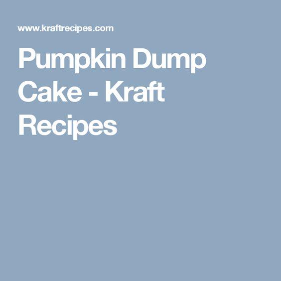 Pumpkin Dump Cake - Kraft Recipes