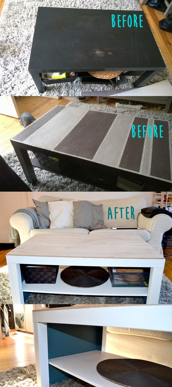 customisation table basse ikea daily work and food pinterest ikea and tables. Black Bedroom Furniture Sets. Home Design Ideas