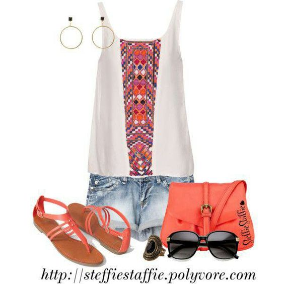 Tangerine Tribal Outfit