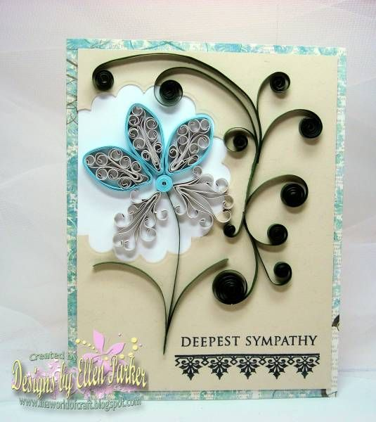 Quilled Sympathy Card