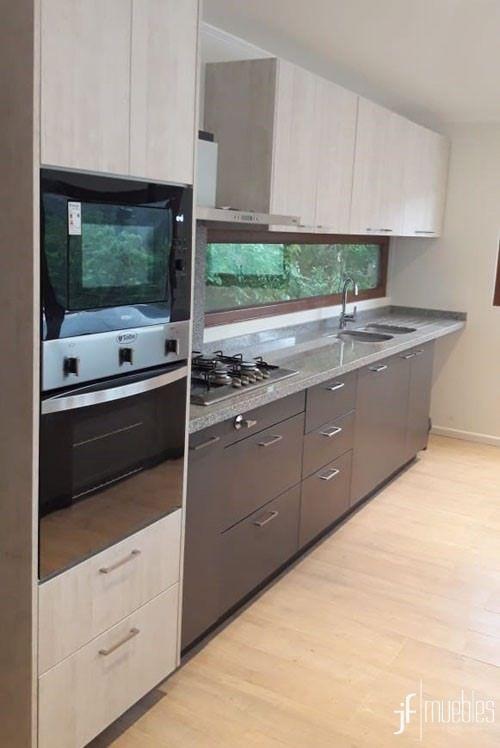 Muebles de cocina en melamia grafito y enigma de 18mm ...