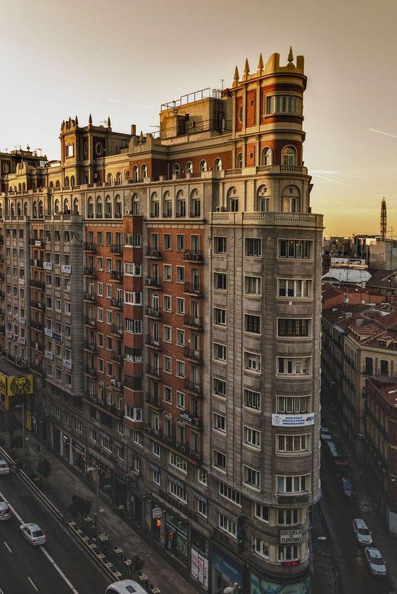 Gran Via, Madrid, Spain #granvia #madrid #spain #europe #travel #sunset #photography #city