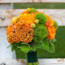 Bouquet, Orange, Pink Wedding Flowers